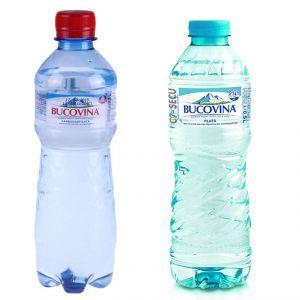Apa plata 0.5L/Apa minerala 0.5L Bucovina